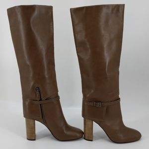 Tory Burch Taupe Buckle Detail Boots Sz 8.5